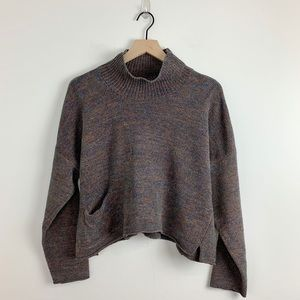 Flax | Mock Neck 100% Cotton Cropped Sweater S / M
